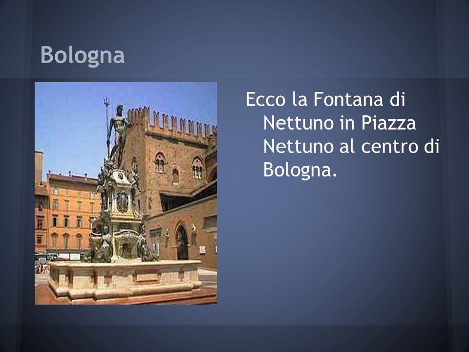 Bologna Ecco la Fontana di Nettuno in Piazza Nettuno al centro di Bologna.