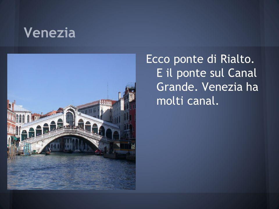 Venezia Ecco ponte di Rialto. E il ponte sul Canal Grande. Venezia ha molti canal.