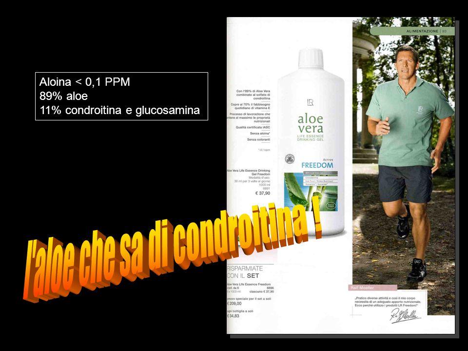 Aloina < 0,1 PPM 89% aloe 11% condroitina e glucosamina