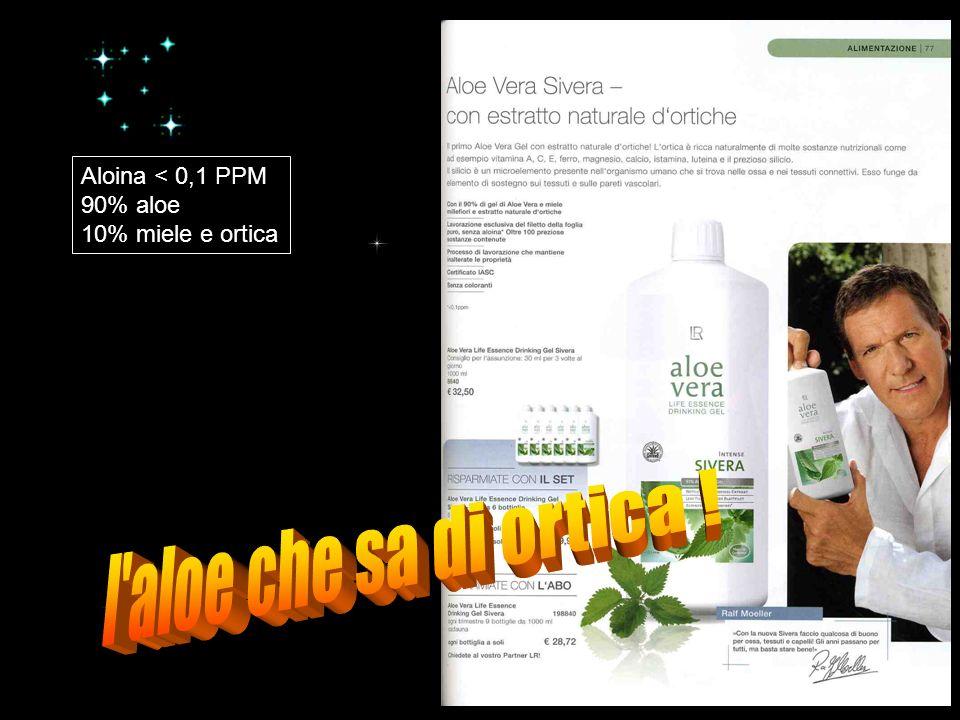 Aloina < 0,1 PPM 90% aloe 10% miele e ortica