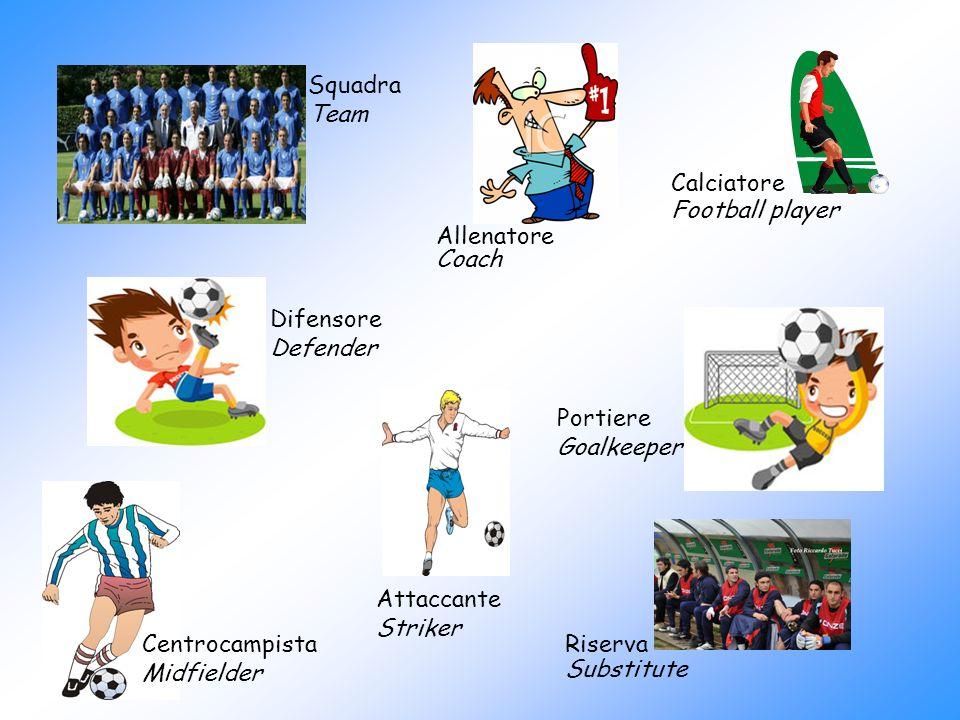Squadra Team Portiere Goalkeeper Allenatore Coach Centrocampista Midfielder Difensore Defender Attaccante Striker Calciatore Football player Riserva S