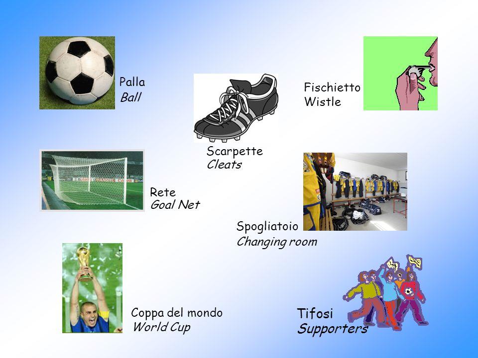 Palla Ball Scarpette Cleats Rete Goal Net Fischietto Wistle Tifosi Supporters Coppa del mondo World Cup Spogliatoio Changing room