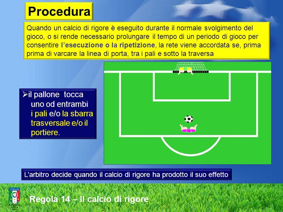 Quando un calcio di rigore è eseguito durante il normale svolgimento del gioco, o si rende necessario prolungare il tempo di un periodo di gioco per c
