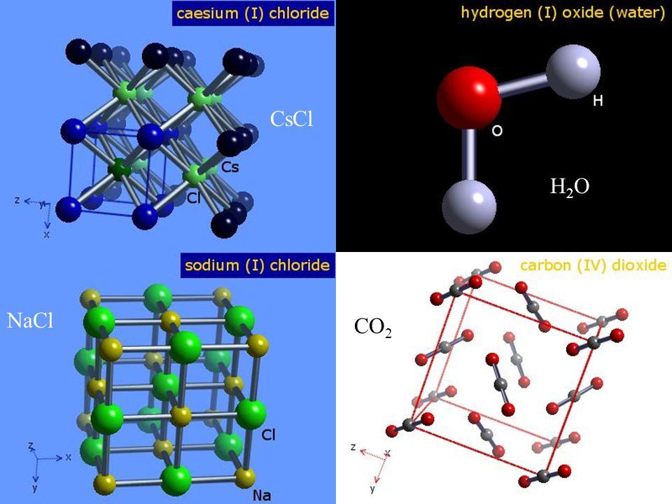 CsCl NaCl H2OH2O CO 2
