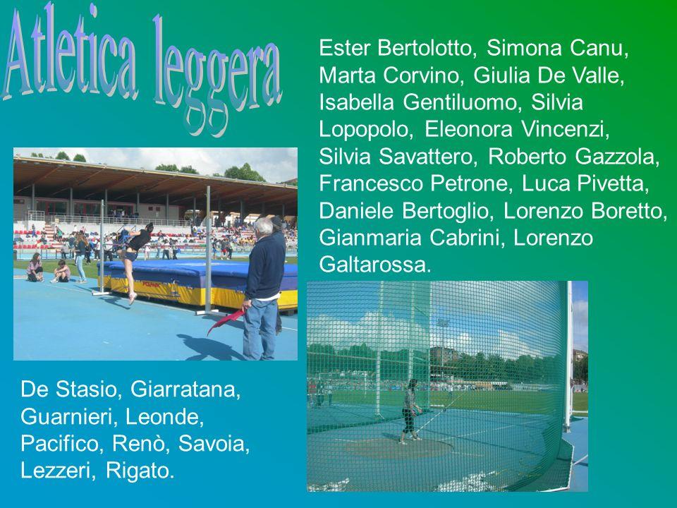 Ester Bertolotto, Simona Canu, Marta Corvino, Giulia De Valle, Isabella Gentiluomo, Silvia Lopopolo, Eleonora Vincenzi, Silvia Savattero, Roberto Gazz