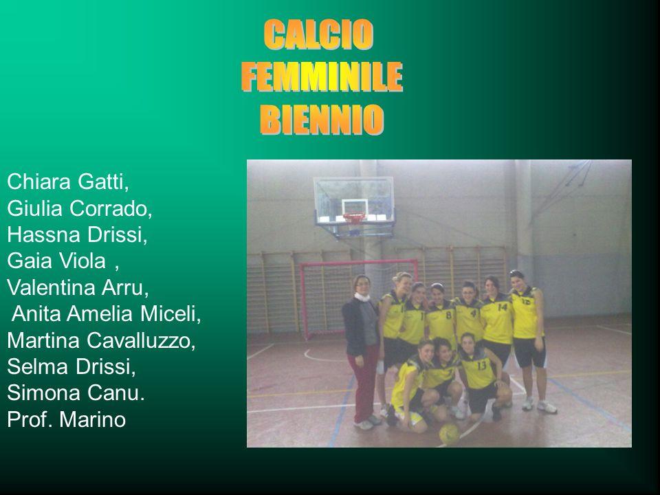 Chiara Gatti, Giulia Corrado, Hassna Drissi, Gaia Viola, Valentina Arru, Anita Amelia Miceli, Martina Cavalluzzo, Selma Drissi, Simona Canu. Prof. Mar