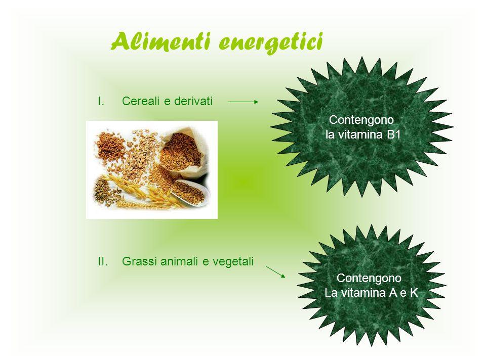 Sostanze regolatrici I.Ortaggi e frutta II.Pomodori Agrumi Fragole Vitamina A B1 B2 PP C Vitamina C