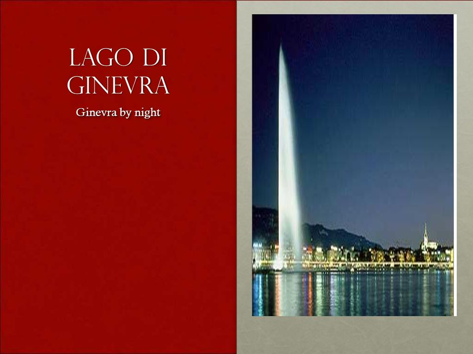 Lago di ginevra Ginevra by night