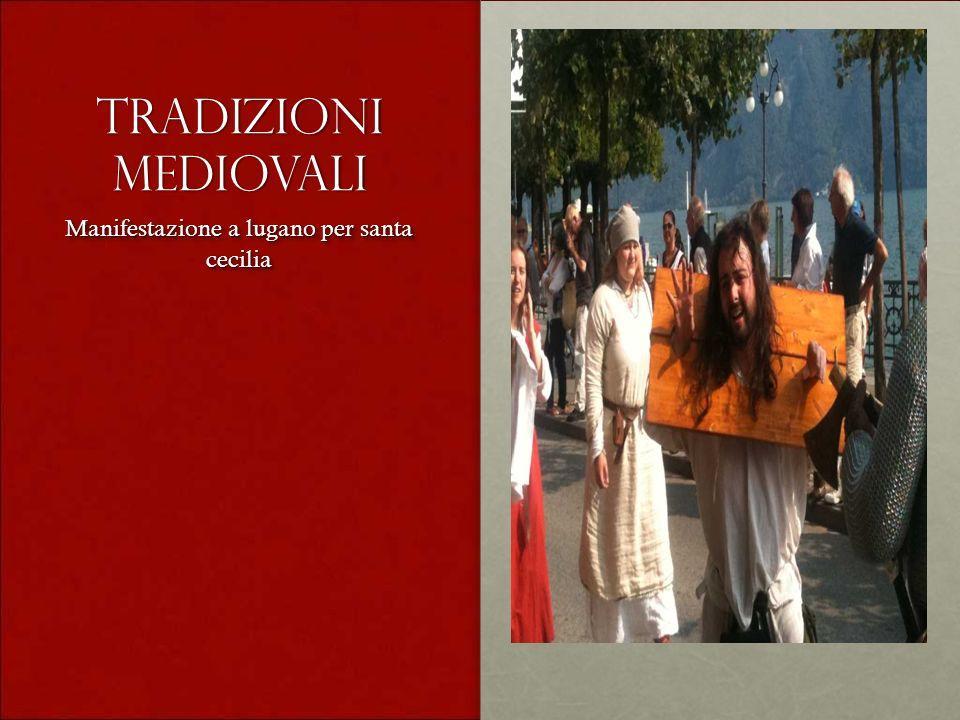 Tradizioni mediovali Manifestazione a lugano per santa cecilia