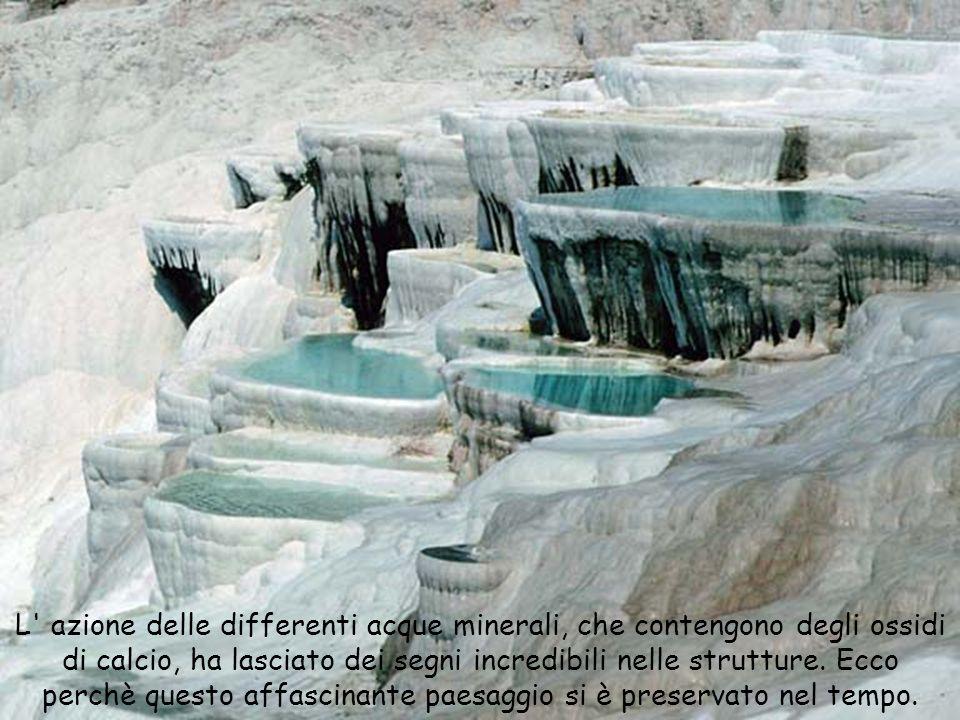 L' azione delle differenti acque minerali, che contengono degli ossidi di calcio, ha lasciato dei segni incredibili nelle strutture. Ecco perchè quest