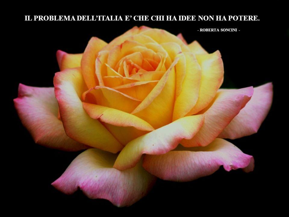 IL PROBLEMA DELLITALIA E CHE CHI HA IDEE NON HA POTERE. - ROBERTA SONCINI -