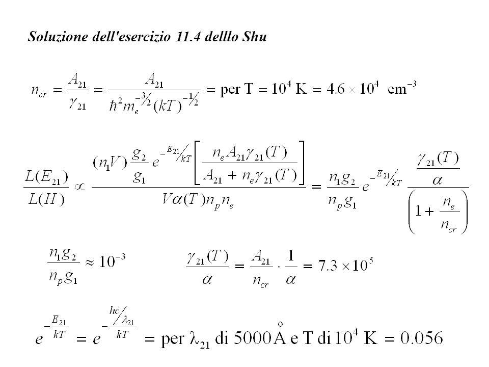 Soluzione dell'esercizio 11.4 delllo Shu