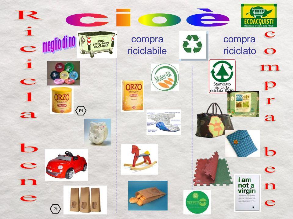 compra riciclabile compra riciclato