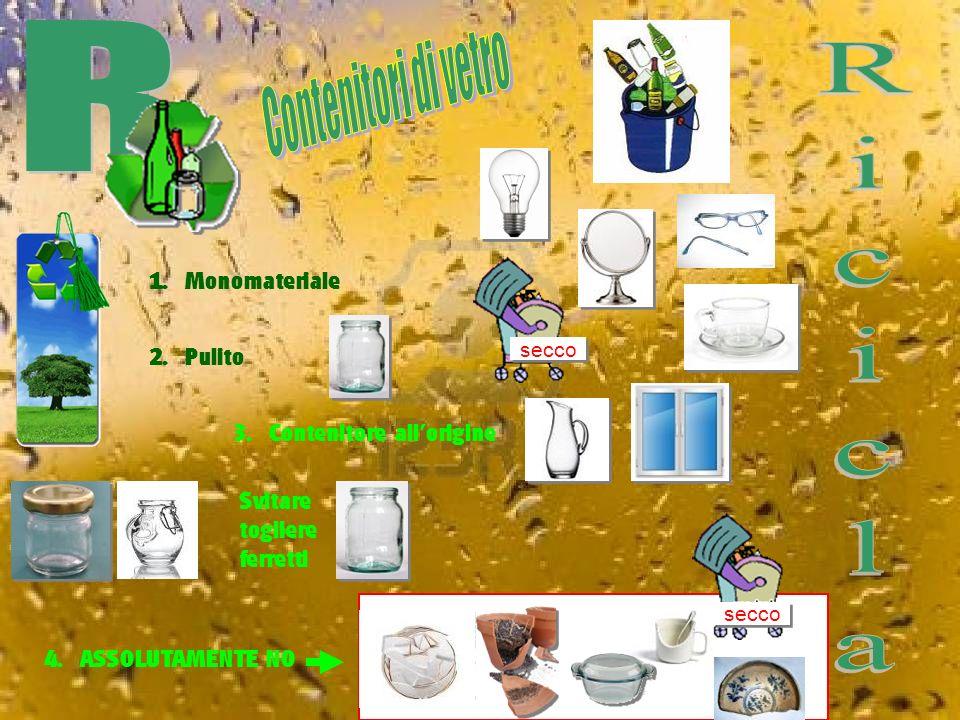 La rifusione del rottame riduce la quantità di materie prime necessarie per la produzione, soprattutto di sabbie silicee e di carbonato di calcio, riducendo quindi i danni all ambiente derivanti dallo sfruttamento delle cave.