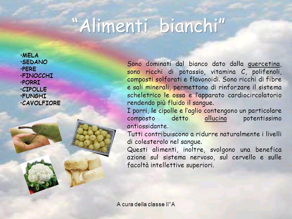 A cura della classe II°A Sono dominati dal bianco dato dalla quercetina, sono ricchi di potassio, vitamina C, polifenoli, composti solforati e flavonoidi.