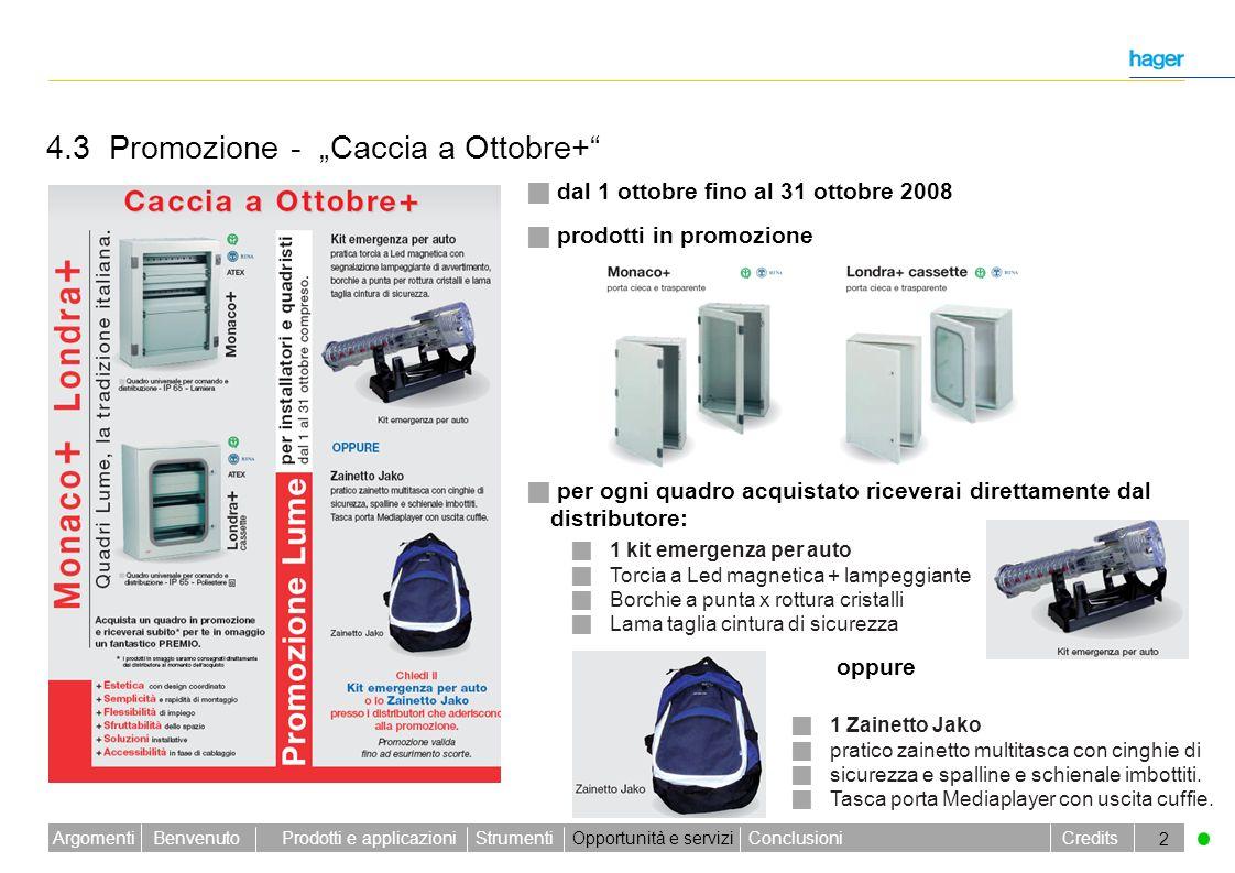 Benvenuto Credits Prodotti e applicazioniStrumentiOpportunità e serviziConclusioniArgomenti 2 prodotti in promozione prodotti in promozione per ogni q