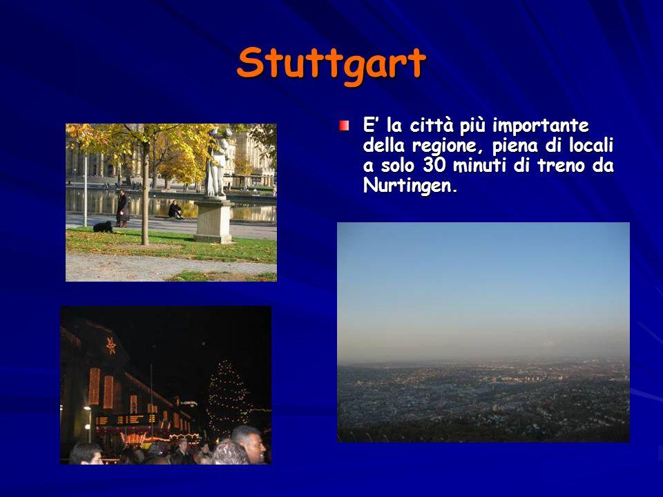 Stuttgart E la città più importante della regione, piena di locali a solo 30 minuti di treno da Nurtingen.