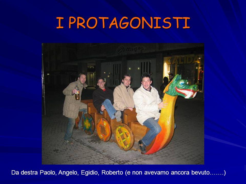 I PROTAGONISTI Da destra Paolo, Angelo, Egidio, Roberto (e non avevamo ancora bevuto…….)