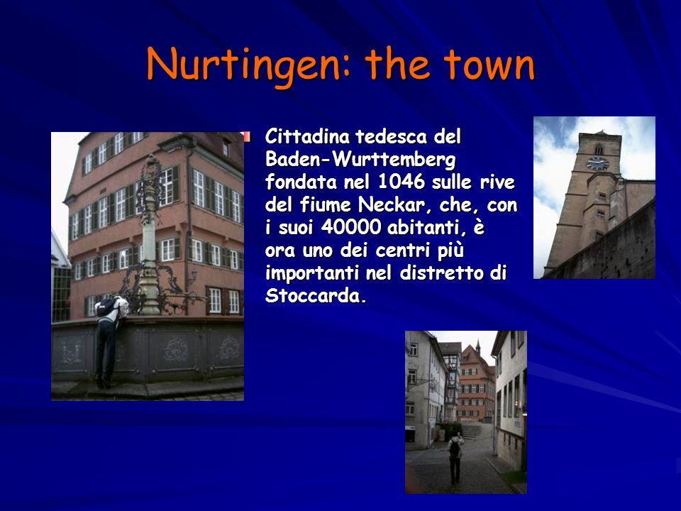 Nurtingen: the town Cittadina tedesca del Baden-Wurttemberg fondata nel 1046 sulle rive del fiume Neckar, che, con i suoi 40000 abitanti, è ora uno dei centri più importanti nel distretto di Stoccarda.