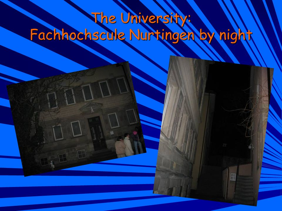 The University: Fachhochscule Nurtingen by night