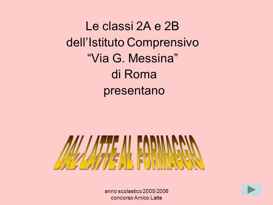 anno scolastico 2005/2006 concorso Amico Latte Le classi 2A e 2B dellIstituto Comprensivo Via G. Messina di Roma presentano