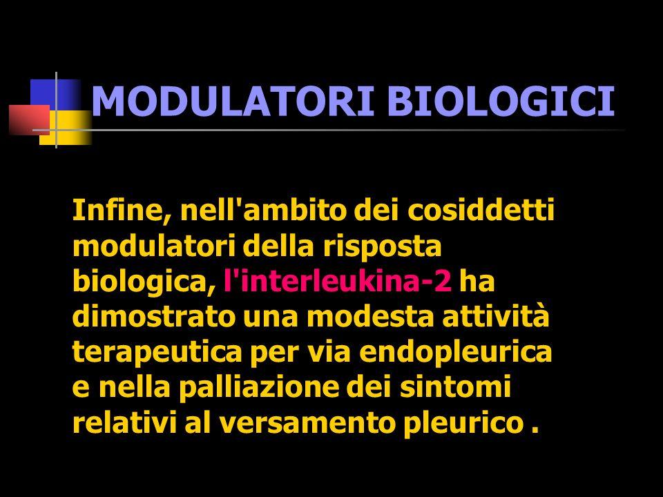 TERAPIA MULTIMODALE Sugarbaker, nel 1998, nell ambito del cosiddetto approccio multimodale , ha riportato i risultati di un trattamento che prevede in sequenza: pleuropmeumonectomia, quindi l associazione taxolo e carboplatino.