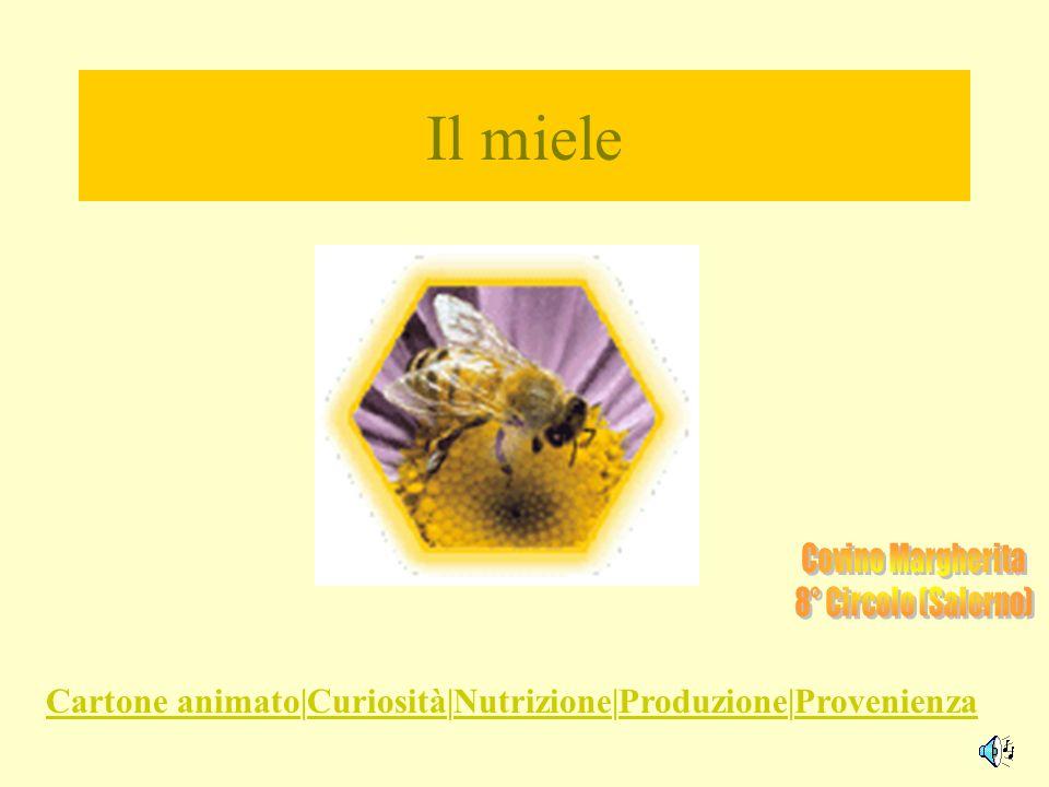 Il miele Cartone animatoCartone animato|Curiosità|Nutrizione|Produzione|ProvenienzaCuriositàNutrizioneProduzioneProvenienza