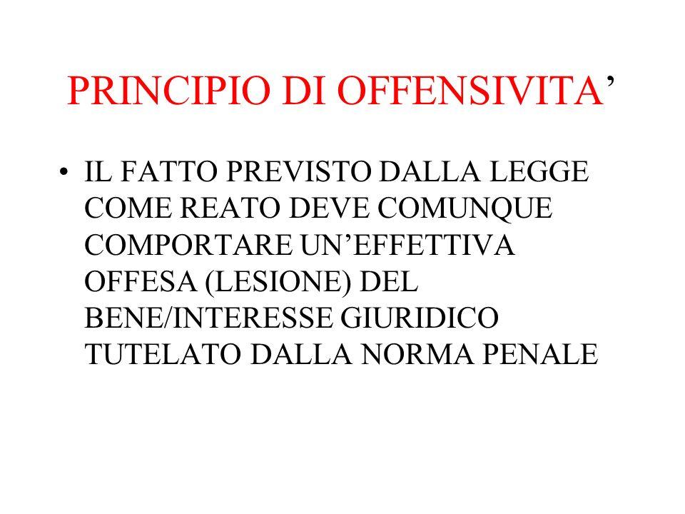 IGNORANZA INEVITABILE ESEMPI C.D.OSCURITA NORMATIVA (ES.