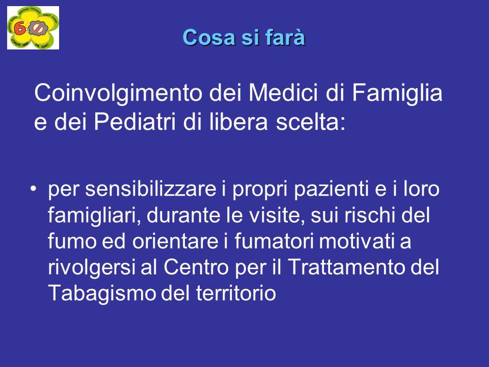 Coinvolgimento dei Medici di Famiglia e dei Pediatri di libera scelta: per sensibilizzare i propri pazienti e i loro famigliari, durante le visite, su