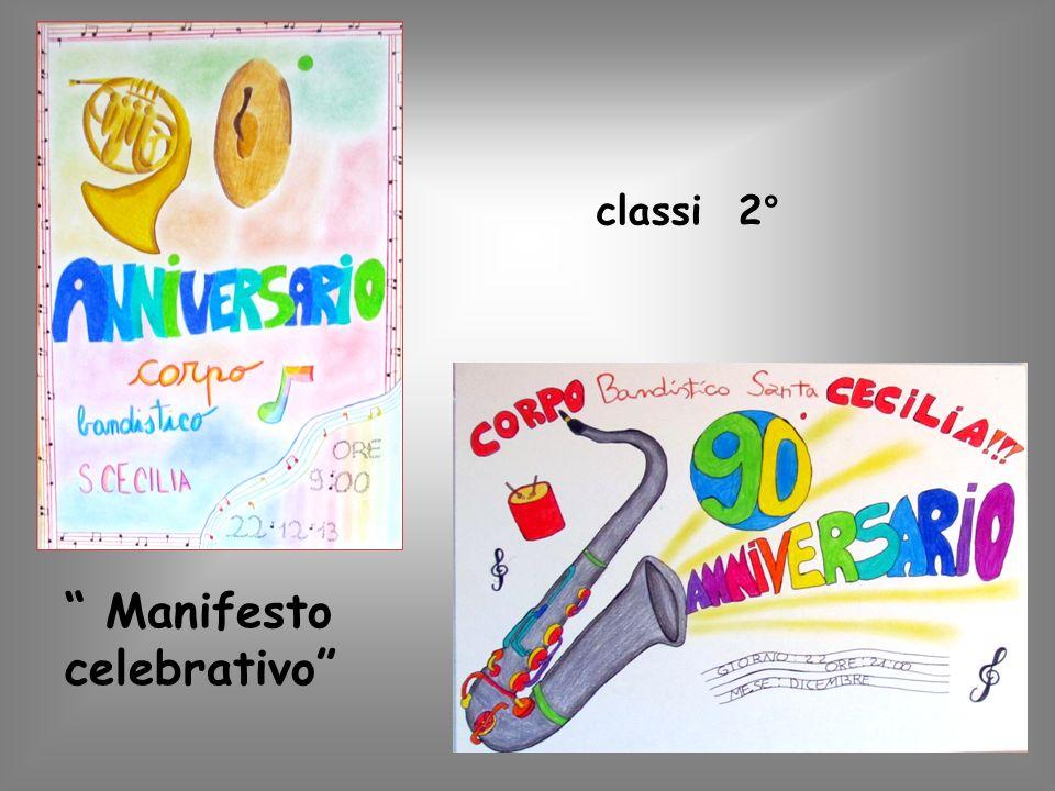 classi 2 ° Manifesto celebrativo