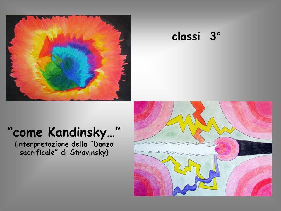 classi 3° come Kandinsky… ( interpretazione della Danza sacrificale di Stravinsky)