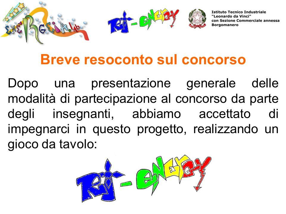 Breve resoconto sul concorso Dopo una presentazione generale delle modalità di partecipazione al concorso da parte degli insegnanti, abbiamo accettato
