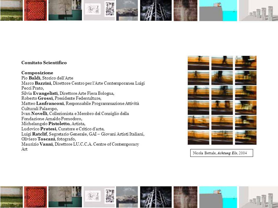 Comitato Scientifico Composizione Pio Baldi, Storico dellArte Marco Bazzini, Direttore Centro per lArte Contemporanea Luigi Pecci Prato, Silvia Evange