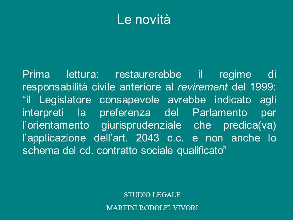Seconda lettura: il riferimento allart.2043 c.c.