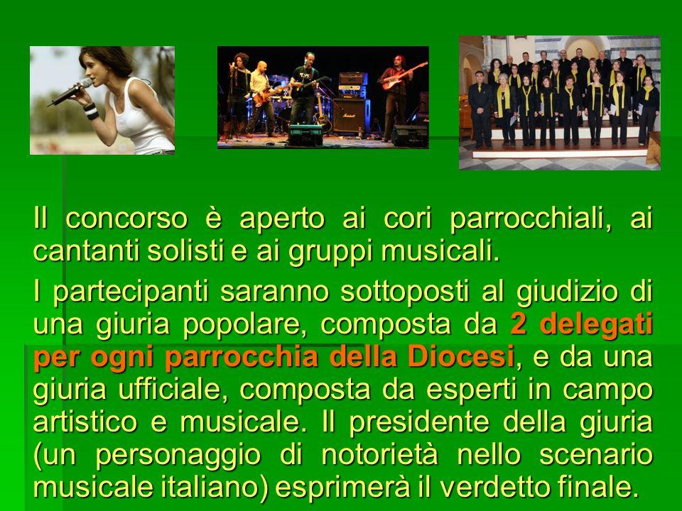 Il concorso è aperto ai cori parrocchiali, ai cantanti solisti e ai gruppi musicali.