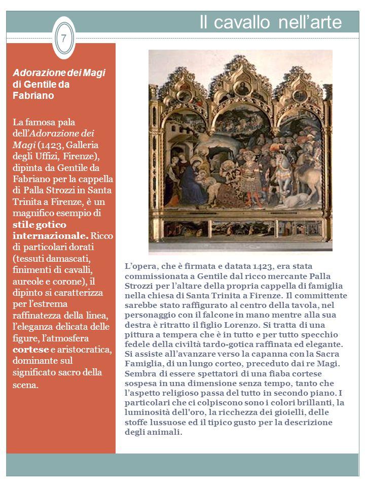 Lopera, che è firmata e datata 1423, era stata commissionata a Gentile dal ricco mercante Palla Strozzi per laltare della propria cappella di famiglia