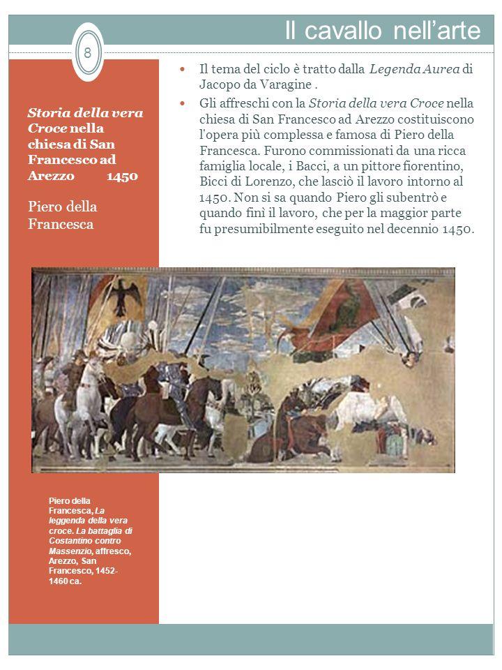 Al tempo di Piero della Francesca, i dipinti che raffiguravano la storia della croce erano comuni nelle chiese dedicate a San Francesco, anche perché nel 1362 i francescani erano stati nominati custodi ufficiali dei luoghi sacri di Gerusalemme, molti dei quali sono effigiati.