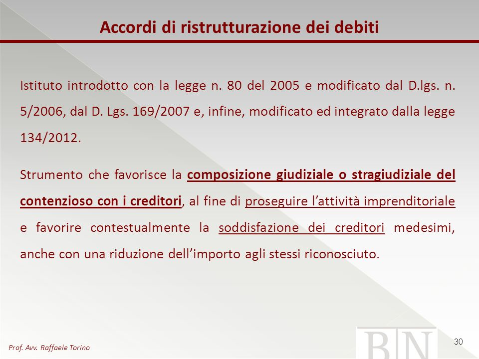 Istituto introdotto con la legge n. 80 del 2005 e modificato dal D.lgs. n. 5/2006, dal D. Lgs. 169/2007 e, infine, modificato ed integrato dalla legge