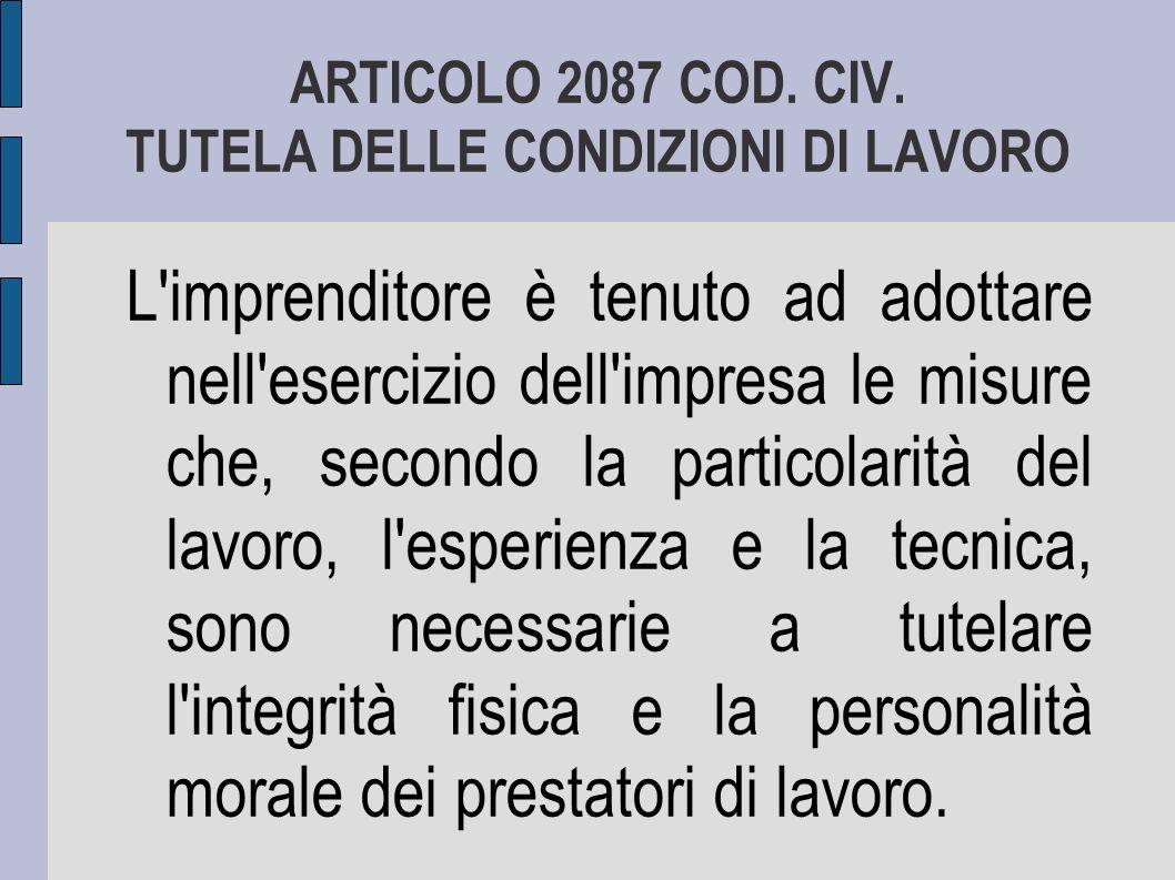 ARTICOLO 2087 COD.CIV.