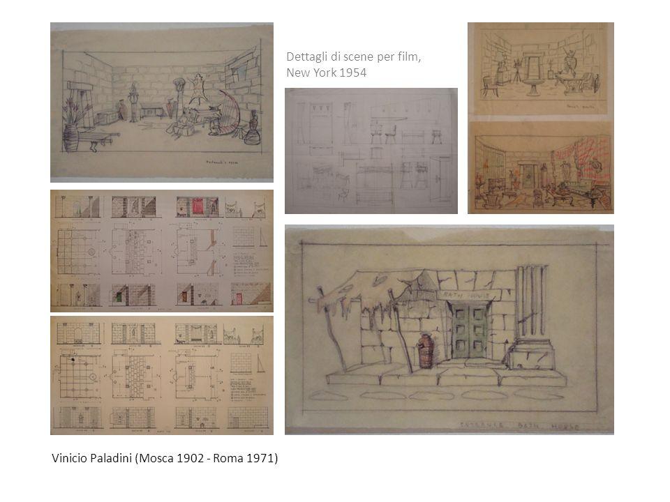 Vinicio Paladini (Mosca 1902 - Roma 1971) Dettagli di scene per film, New York 1954