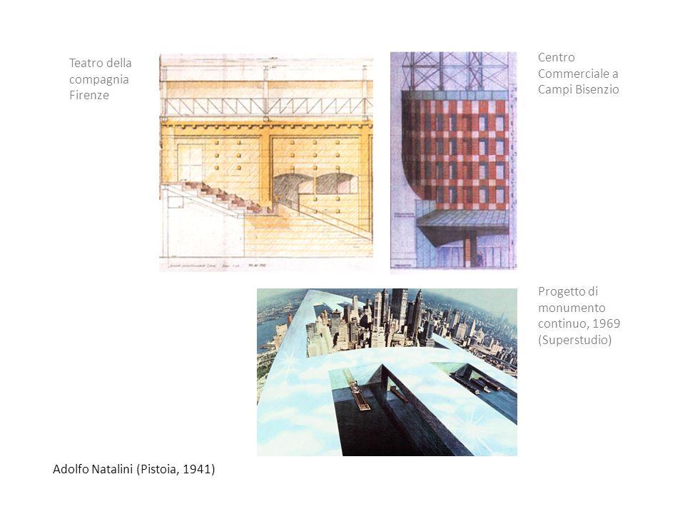Adolfo Natalini (Pistoia, 1941) Teatro della compagnia Firenze Centro Commerciale a Campi Bisenzio Progetto di monumento continuo, 1969 (Superstudio)