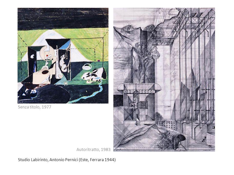 Studio Labirinto, Antonio Pernici (Este, Ferrara 1944) Autoritratto, 1983 Senza titolo, 1977