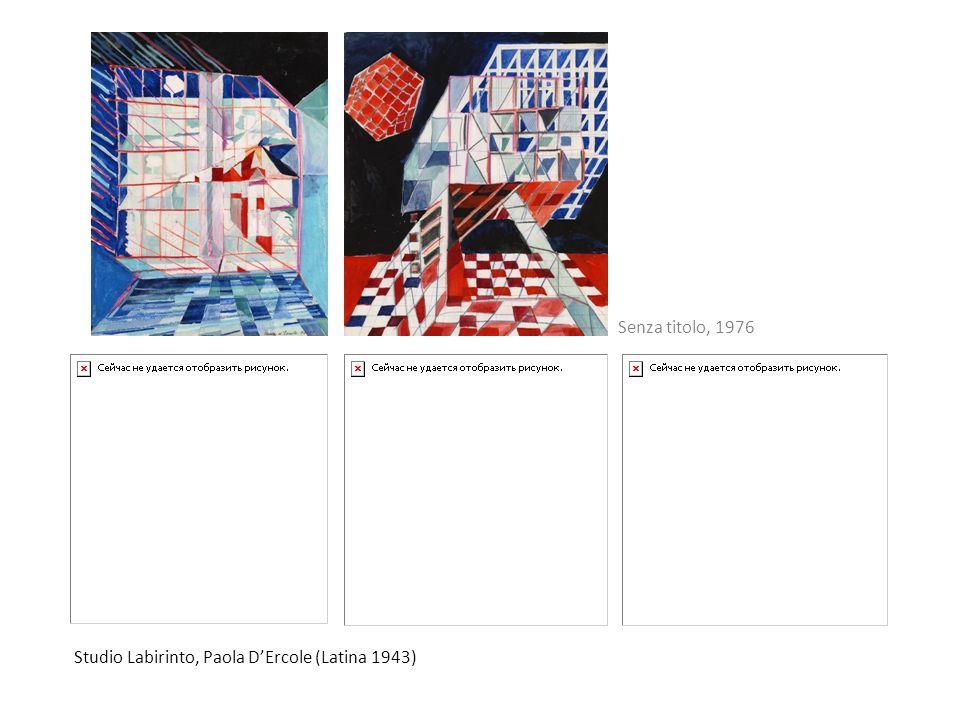 Studio Labirinto, Paola DErcole (Latina 1943) Senza titolo, 1976