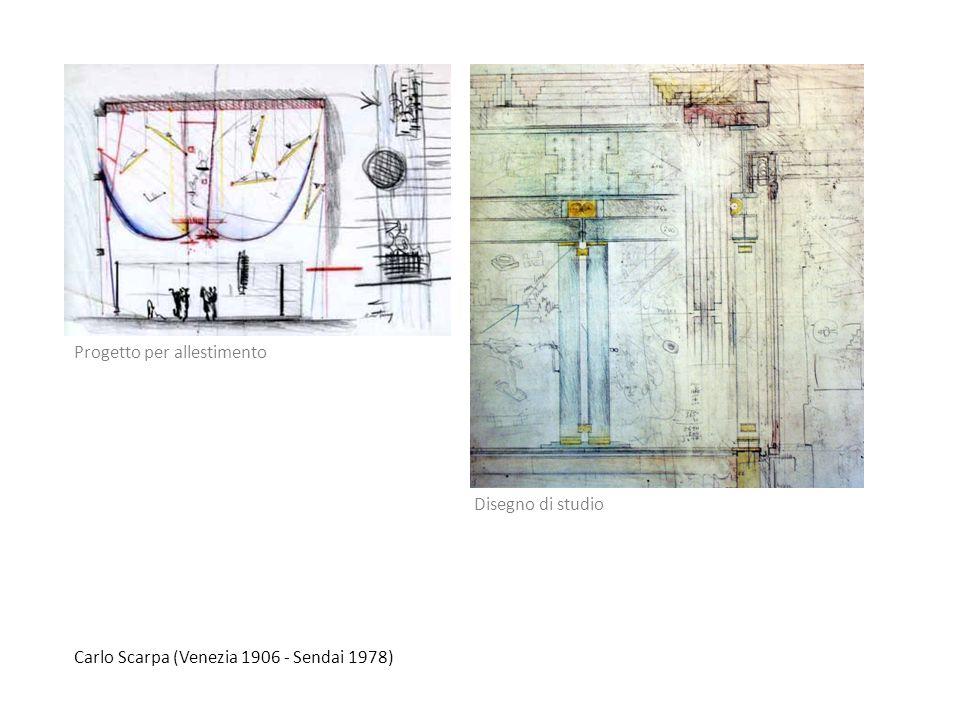 Carlo Scarpa (Venezia 1906 - Sendai 1978) Disegno di studio Progetto per allestimento