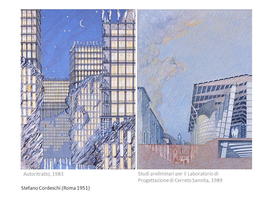 Stefano Cordeschi (Roma 1951) Autoritratto, 1983 Studi preliminari per il Laboratorio di Progettazione di Cerreto Sannita, 1989
