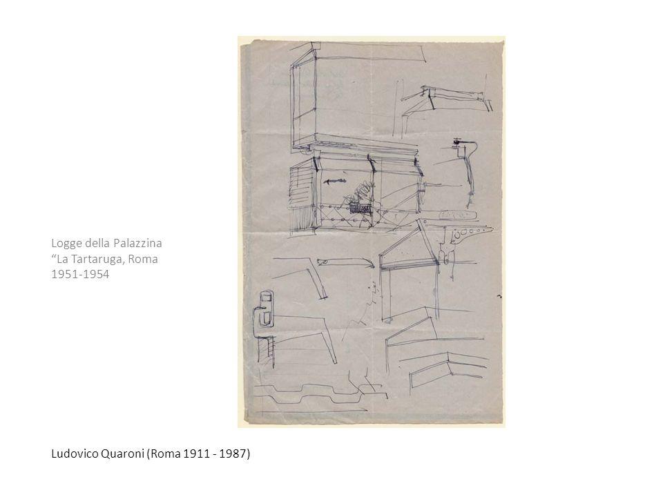 Ludovico Quaroni (Roma 1911 - 1987) Logge della Palazzina La Tartaruga, Roma 1951-1954