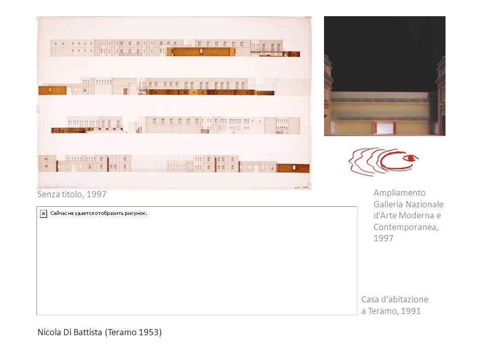 Nicola Di Battista (Teramo 1953) Senza titolo, 1997 Casa dabitazione a Teramo, 1991 Ampliamento Galleria Nazionale dArte Moderna e Contemporanea, 1997