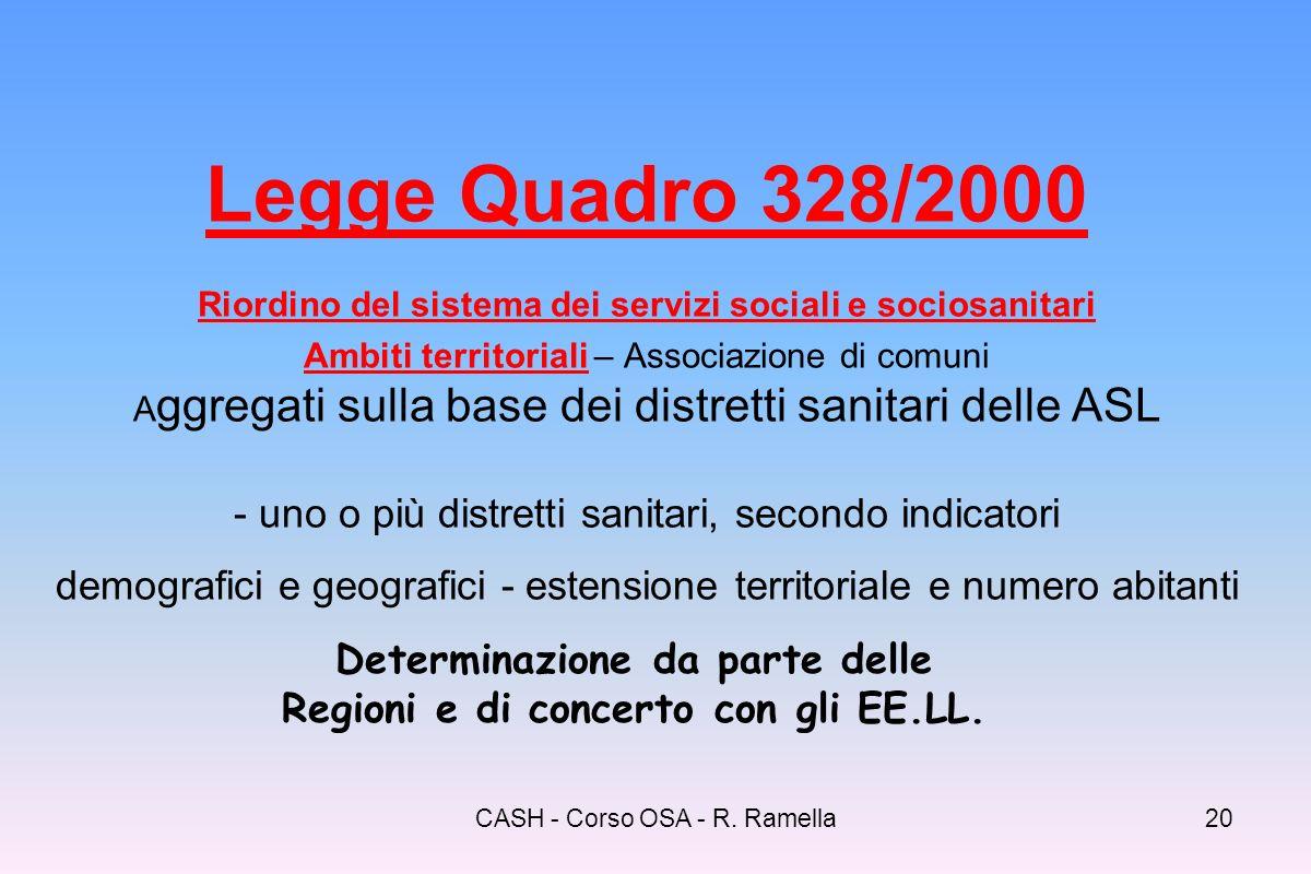CASH - Corso OSA - R. Ramella19 328/00 - Sintesi Processo Principali protagoni sti