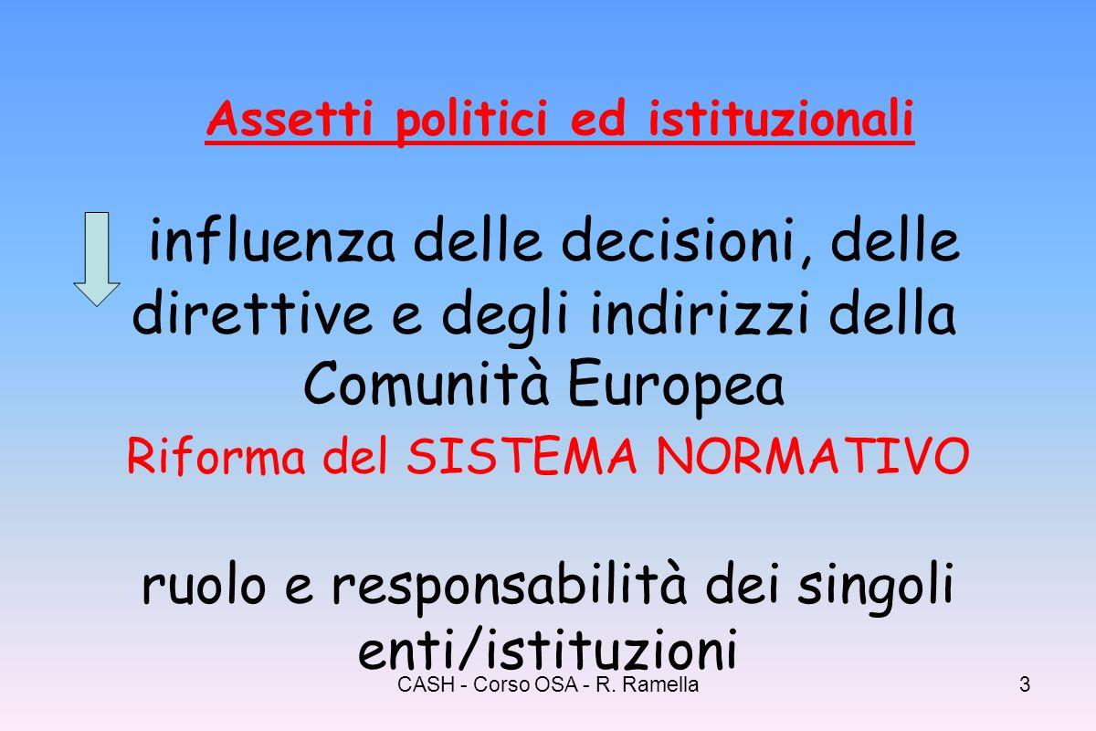 CASH - Corso OSA - R. Ramella2 Legge 8 novembre 2000 n.328 Legge quadro per la realizzazione del sistema integrato di interventi e servizi sociali Pun