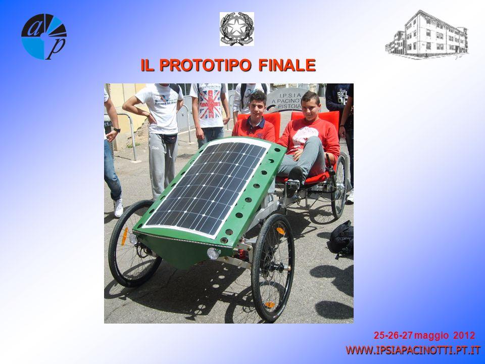 25-26-27 maggio 2012 WWW.IPSIAPACINOTTI.PT.IT IL PROTOTIPO FINALE